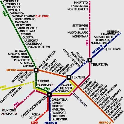 rome metro train map pdf
